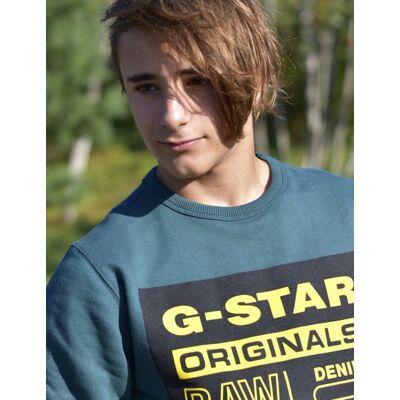 G-star, SWEAT, Grøn, Trøjer/Cardigans till Dreng, 14 år - Børnetøj - G-star