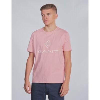 Gant, TU. GANT LOCK-UP SS T-SHIRT, Rosa, T-shirt/toppe till Dreng, 146-152 - Børnetøj - Gant
