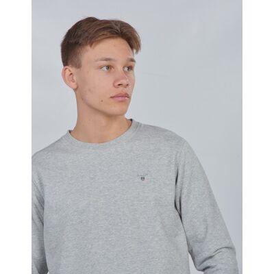 Gant, TB. THE ORIGINAL C-NECK SWEAT, Grå, Trøjer/Cardigans till Dreng, 176 cm - Børnetøj - Gant