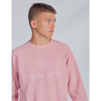 Gant, LOCK-UP CREWNECK, Rosa, Trøjer/Cardigans till Dreng, 170 cm - Børnetøj - Gant