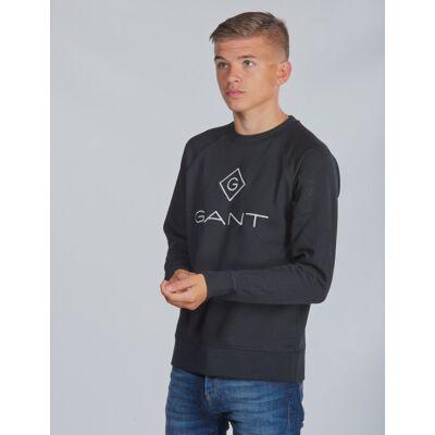 Gant, LOCK-UP CREWNECK, Sort, Trøjer/Cardigans till Dreng, 170 cm - Børnetøj - Gant