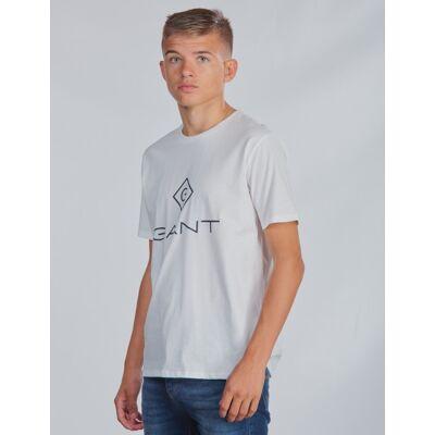 Gant, LOCK-UP T-SHIRT, Hvid, T-shirt/toppe till Dreng, 134-140 - Børnetøj - Gant