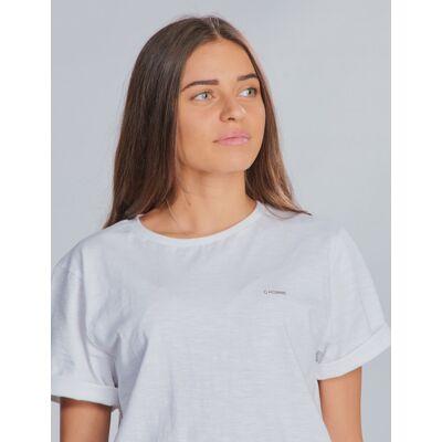Grunt, Khalil Tee, Hvid, T-shirt/toppe till Pige, S - Børnetøj - Grunt