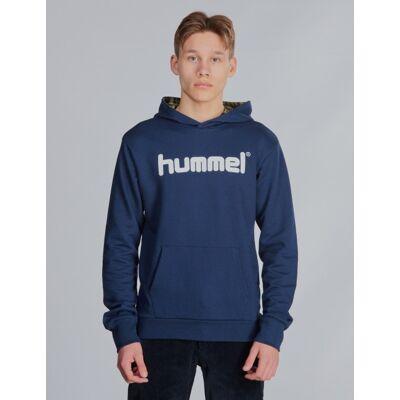 Hummel, hmlDERMOT HOODIE, Blå, Hættetrøjer till Dreng, 176 cm - Børnetøj - Hummel