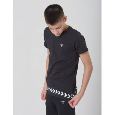 Hummel, WOLF T-SHIRT S/S, Sort, T-shirt/toppe till Dreng, 128 cm - Børnetøj - Hummel