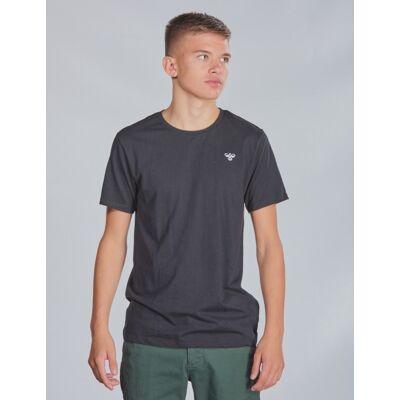 Hummel, hmlUNI T-SHIRT SS, Sort, T-shirt/toppe till Dreng, 164 cm - Børnetøj - Hummel
