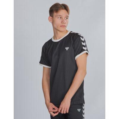 Hummel, hmlCLARK T-SHIRT S/S, Sort, T-shirt/toppe till Dreng, 140 cm - Børnetøj - Hummel