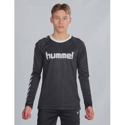 Hummel, hmlCLARK T-SHIRT L/S, Sort, T-shirt/toppe till Dreng, 152 cm - Børnetøj - Hummel