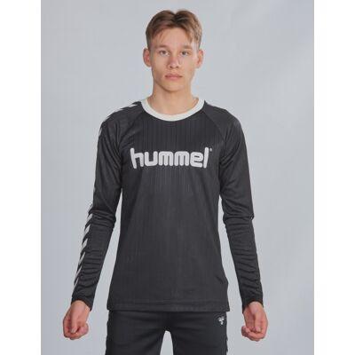 Hummel, hmlCLARK T-SHIRT L/S, Sort, T-shirt/toppe till Dreng, 164 cm - Børnetøj - Hummel