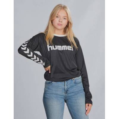 Hummel, hmlCLARK T-SHIRT L/S, Sort, T-shirt/toppe till Pige, 152 cm - Børnetøj - Hummel
