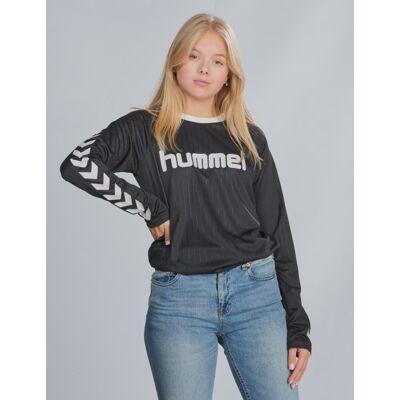 Hummel, hmlCLARK T-SHIRT L/S, Sort, T-shirt/toppe till Pige, 176 cm - Børnetøj - Hummel