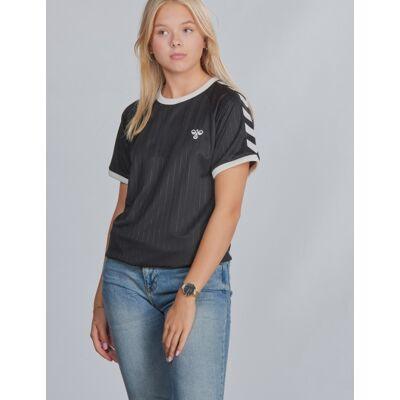 Hummel, hmlCLARK T-SHIRT S/S, Sort, T-shirt/toppe till Pige, 164 cm - Børnetøj - Hummel