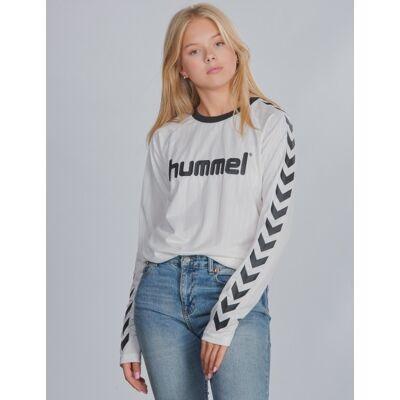 Hummel, hmlCLARK T-SHIRT L/S, Hvid, T-shirt/toppe till Pige, 140 cm - Børnetøj - Hummel