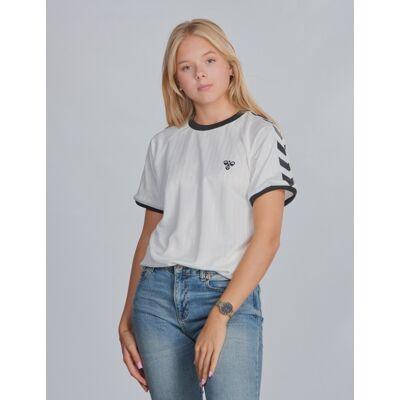 Hummel, hmlCLARK T-SHIRT S/S, Hvid, T-shirt/toppe till Pige, 152 cm - Børnetøj - Hummel