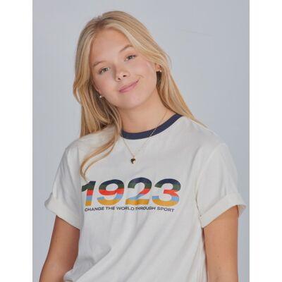 Hummel, hmlNIKO T-SHIRT S/S, Hvid, T-shirt/toppe till Pige, 140 cm - Børnetøj - Hummel