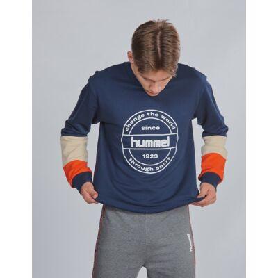 Hummel, hmlRAMSEY SWEATSHIRT, Blå, Trøjer/Cardigans till Dreng, 164 cm - Børnetøj - Hummel