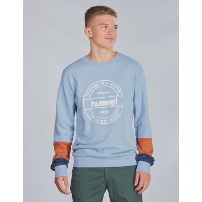 Hummel, hmlRAMSEY SWEATSHIRT, Blå, Trøjer/Cardigans till Dreng, 140 cm - Børnetøj - Hummel