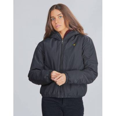 Scott Lyle & Scott, ZIP THROUGH HOODED JACKET, Sort, Jakker/Fleece/Veste till Pige, 15-16 år - Børnetøj - Scott