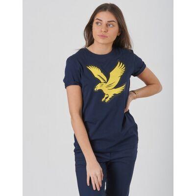 Scott Lyle & Scott, Eagle Logo T-Shirt, Blå, T-shirt/toppe till Pige, 12-13 år - Børnetøj - Scott