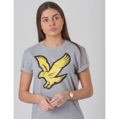 Scott Lyle & Scott, Eagle Logo T-Shirt, Grå, T-shirt/toppe till Pige, 14-15 år - Børnetøj - Scott
