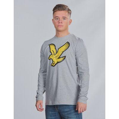 Scott Lyle & Scott, L/S Eagle Logo T-Shirt, Grå, T-shirt/toppe till Dreng, 15-16 år - Børnetøj - Scott