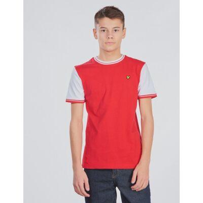 Scott Lyle & Scott, Tipped Tee, Rød, T-shirt/toppe till Dreng, 14-15 år - Børnetøj - Scott
