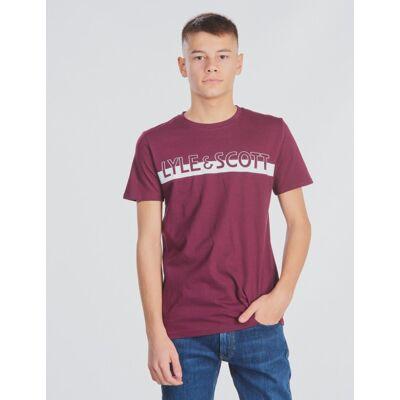 Scott Lyle & Scott, Block Logo T-Shirt, Rød, T-shirt/toppe till Dreng, 14-15 år - Børnetøj - Scott