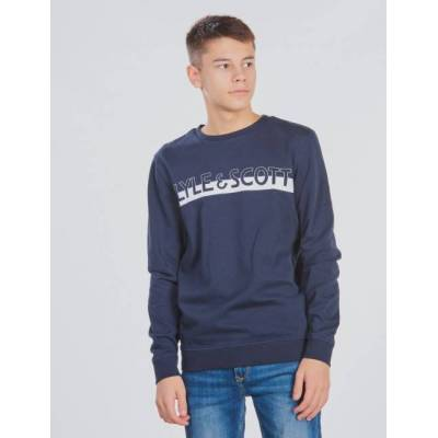 Scott Lyle & Scott, Block Logo Crew BB, Blå, Trøjer/Cardigans till Dreng, 14-15 år - Børnetøj - Scott