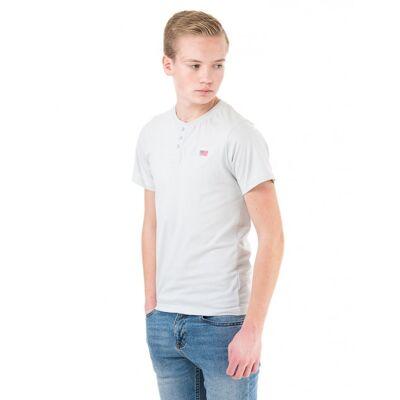 MarQy Classic, Lisburn SS Grandpa, Grå, T-shirt/toppe till Dreng, 122-128 - Børnetøj - MarQy Classic