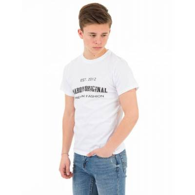 MarQy, Seattle SS Tee, Hvid, T-shirt/toppe till Dreng, 122-128 - Børnetøj - MarQy