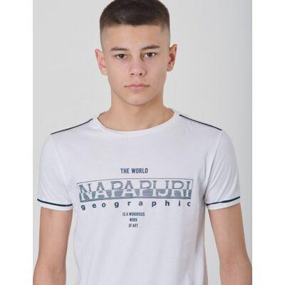 Napapijri, K SEBYL, Hvid, T-shirt/toppe till Dreng, 10 år - Børnetøj - Napapijri