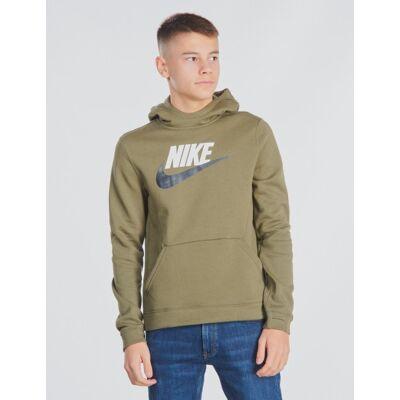 Nike, NSW PO HOODIE CLUB, Grøn, Hættetrøjer till Dreng, XL - Børnetøj - Nike
