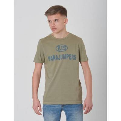 Parajumpers, Jonny T-shirt, Grøn, T-shirt/toppe till Dreng, XS - Børnetøj - Parajumpers