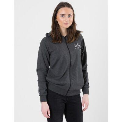 Perrelli Street Wear, Kyrie Zip Hood, Grå, Hættetrøjer till Pige, 158-164 - Børnetøj - Perrelli Street Wear