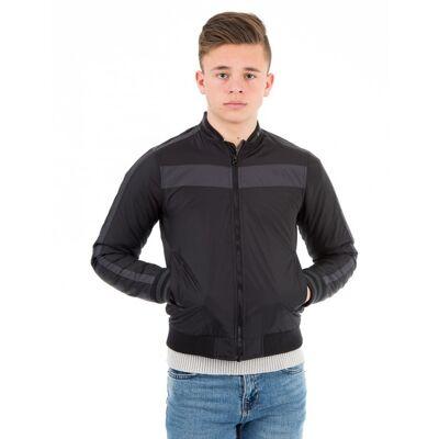 Perrelli Street Wear, Foro Jacket, Sort, Jakker/Fleece/Veste till Dreng, 146-152 - Børnetøj - Perrelli Street Wear