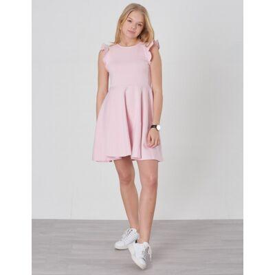 Ralph Lauren, RUFFLE DRESS-DRESSES-KNIT, Rosa, Kjoler/nederdele till Pige, L - Børnetøj - Ralph Lauren