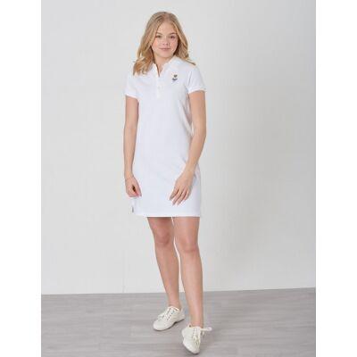 Ralph Lauren, BEAR POLO DR-DRESSES-KNIT, Hvid, Kjoler/nederdele till Pige, M - Børnetøj - Ralph Lauren