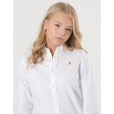 Ralph Lauren, LS OXFORD SHIRT, Hvid, Skjorter till Pige, Size 8 - Børnetøj - Ralph Lauren