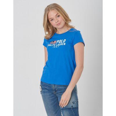 Ralph Lauren, SS TEE-TOPS-KNIT, Blå, T-shirt/toppe till Pige, M - Børnetøj - Ralph Lauren
