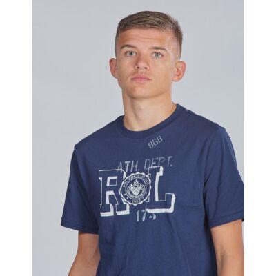 Ralph Lauren, SS CN-TOPS-T-SHIRT, Blå, T-shirt/toppe till Dreng, M - Børnetøj - Ralph Lauren