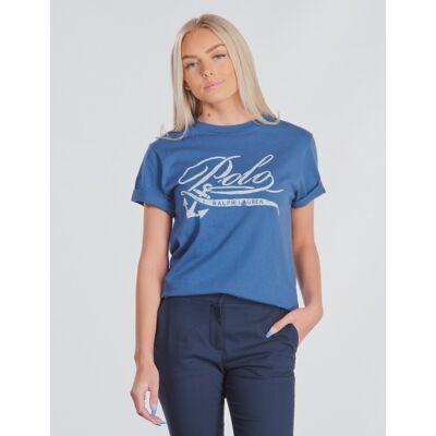 Ralph Lauren, CN-TOPS-T-SHIRT, Blå, T-shirt/toppe till Pige, S - Børnetøj - Ralph Lauren
