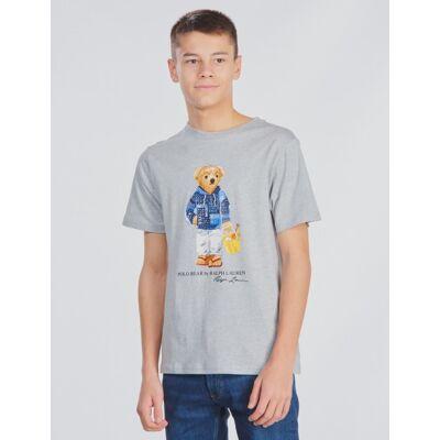 Ralph Lauren, CN-TOPS-T-SHIRT, Grå, T-shirt/toppe till Dreng, L - Børnetøj - Ralph Lauren