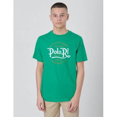 Ralph Lauren, SS CN-TOPS-T-SHIRT, Grøn, T-shirt/toppe till Dreng, L - Børnetøj - Ralph Lauren