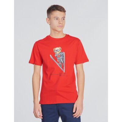 Ralph Lauren, SS CN-TOPS-T-SHIRT, Rød, T-shirt/toppe till Dreng, S - Børnetøj - Ralph Lauren