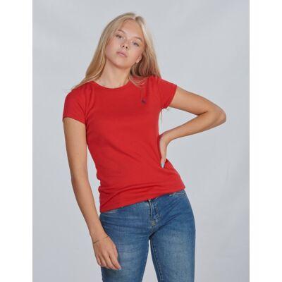 Ralph Lauren, SS CN TEE-TOPS-KNIT, Rød, T-shirt/toppe till Pige, L - Børnetøj - Ralph Lauren