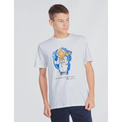 Ralph Lauren, CN-TOPS-T-SHIRT, Hvid, T-shirt/toppe till Dreng, L - Børnetøj - Ralph Lauren