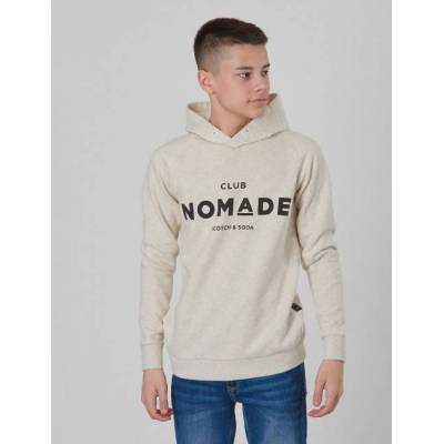 Scotch & Soda, Club Nomade Signature Hoody, Beige, Hættetrøjer till Dreng, 16 år - Børnetøj - Scotch & Soda
