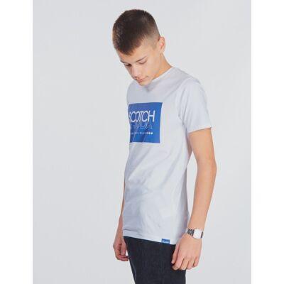 Scotch & Soda, Scotch & Soda short sleeve tee, Hvid, T-shirt/toppe till Dreng, 10 år - Børnetøj - Scotch & Soda