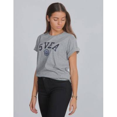 Svea, Chicago Jr Tee, Grå, T-shirt/toppe till Pige, 130 cm - Børnetøj - Svea