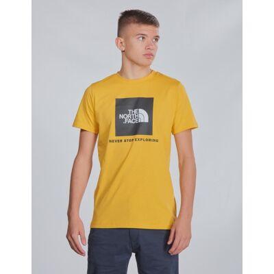 The North Face, BOX S/S TEE, Gul, T-shirt/toppe till Dreng, S - Børnetøj - The North Face